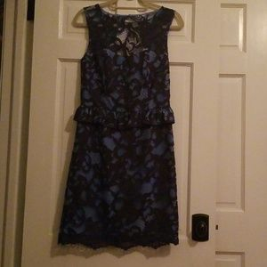 Lily Pulitzer blue lace mid length dress